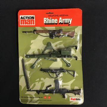 VINTAGE ACTION MAN - RHINE ARMY - ULTRA RARE  Weapons Arsenal Card